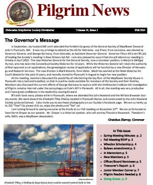 Fall 2014 Newsletter